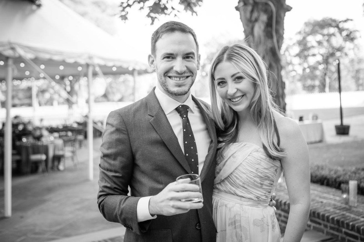 Couples shot from a summer wedding