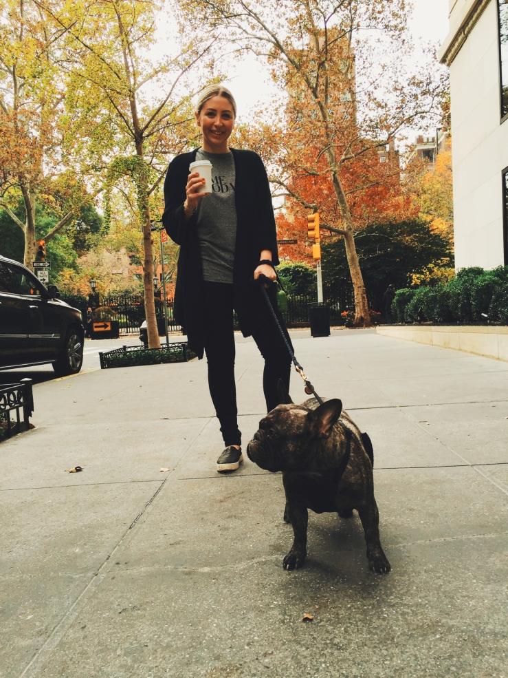 Hank and I outside Maialino