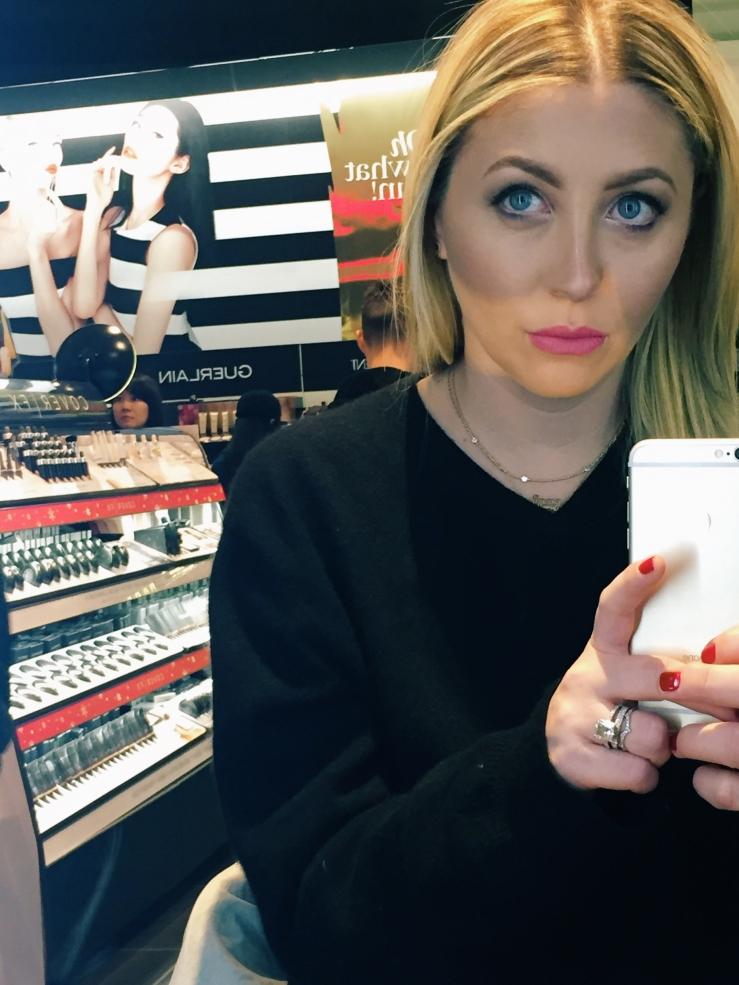 Slightly embarrassing makeup selfie